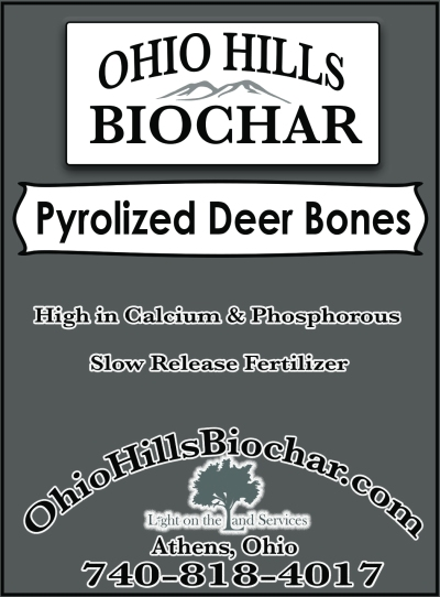 Ohio Hills biochar deer bone char